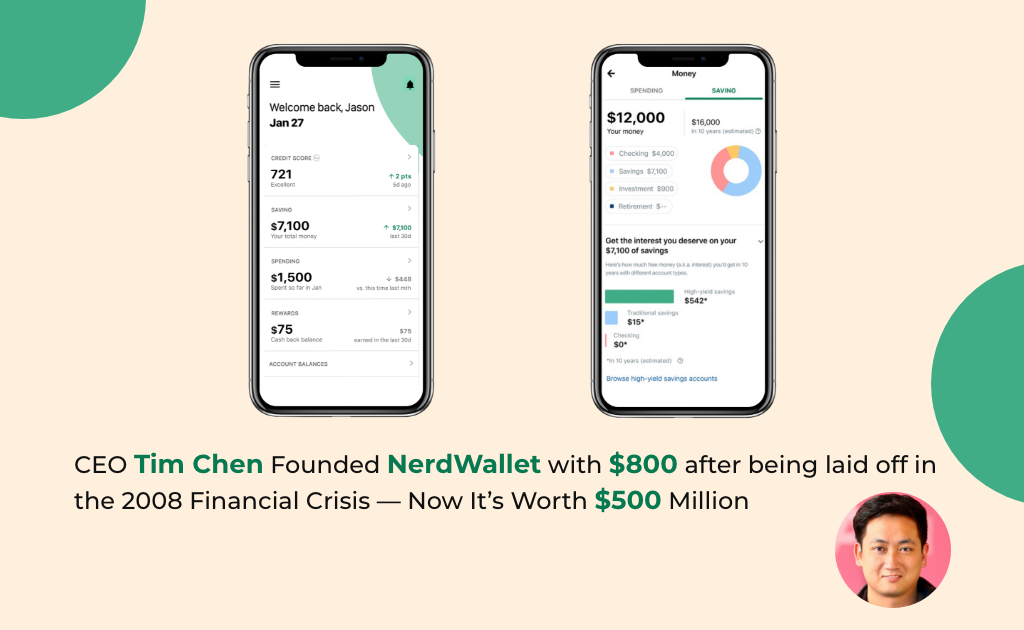 Nerd wallet was launched amid a recession